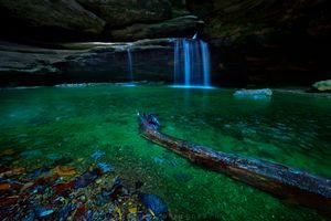 Фото бесплатно река, водопад, скалы