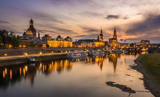 Фото бесплатно Dresden, на закате, небо
