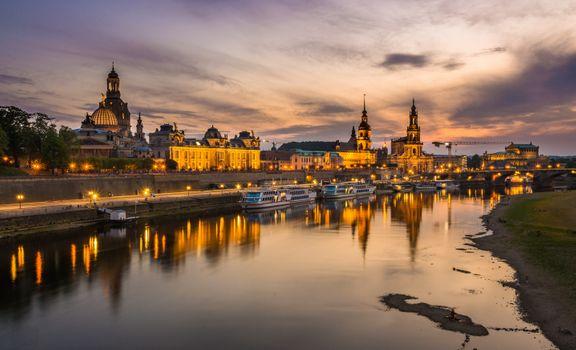 Заставки Dresden, на закате, небо