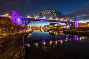 Фото бесплатно Австралия, ночной город, мост Харбор-Бридж