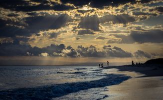 Бесплатные фото Остров Бриби,Красный пляж,Австралия,закат солнца,море,берег,небо