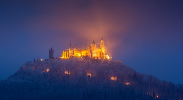 Photo free an old castle, Hohenzollern castle, Baden-wurttemberg