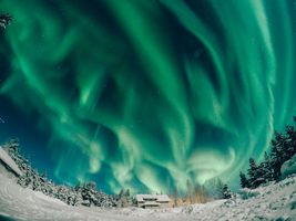 Photo free Lapland, Finland, winter lights