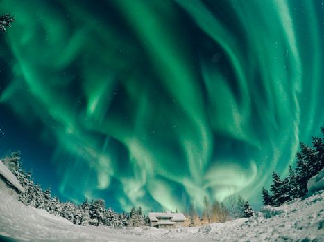Photo free Lapland, Finland, winter lights
