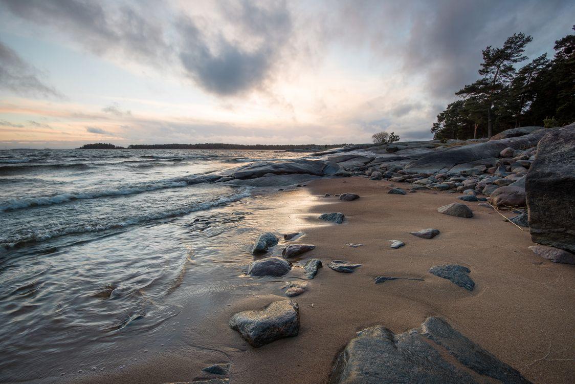 Фото бесплатно волны, пляж, камни - на рабочий стол