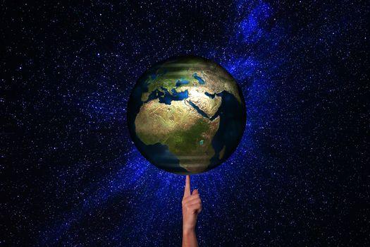 Photo free globe, earth, finger