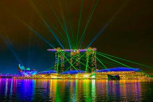 Фото бесплатно ночной город, сингапур, гордый
