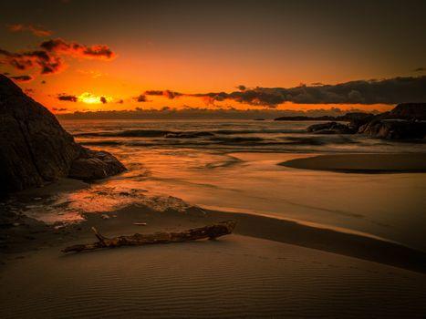 Фото бесплатно пейзаж, океан, песок