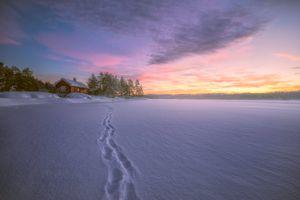 Фото бесплатно дом у озера, Norway, облака