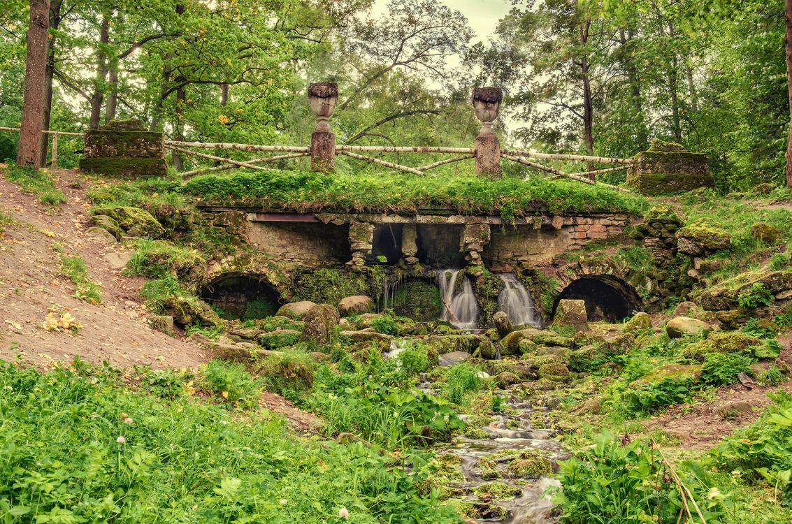 Фото бесплатно Павловский парк, каменный мостик, Россия - на рабочий стол