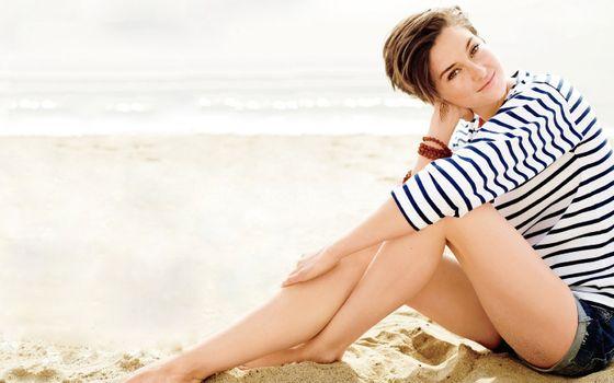 Фото бесплатно Вудли, на пляже, футболка
