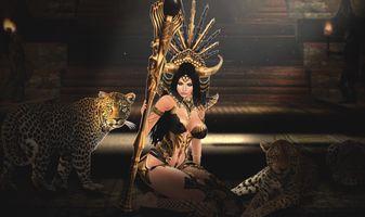 царица леопардов,
