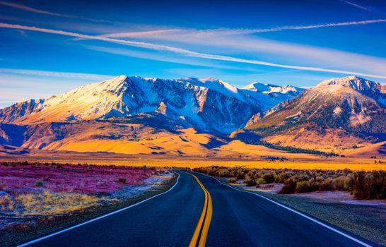 Бесплатные фото Калифорния,дорога,горы,небо,природа,пейзаж