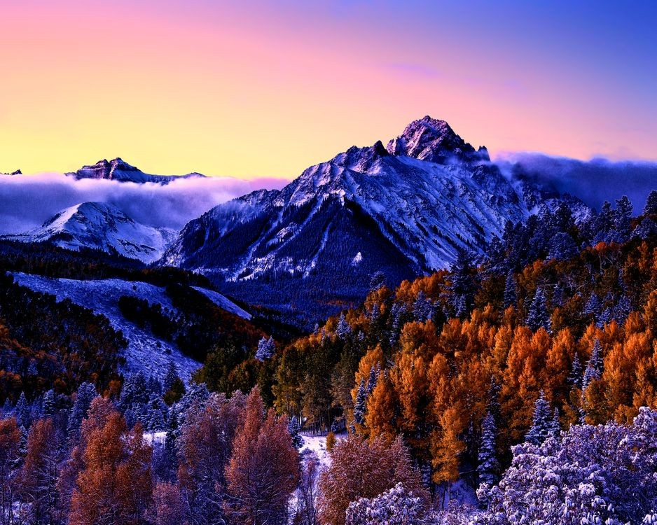 Фото бесплатно Колорадо, горы, небо - на рабочий стол
