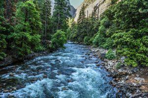 Фото бесплатно Merced River, Yosemite National Park, река