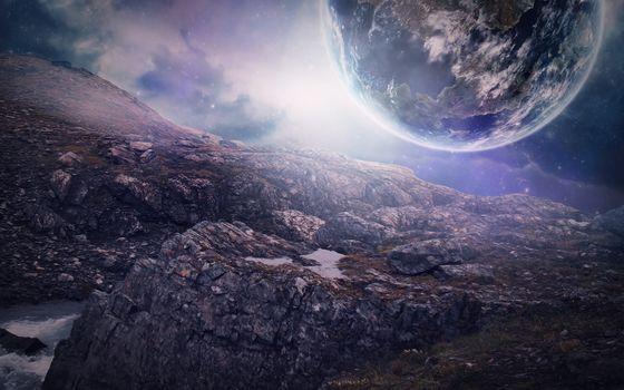 Фото бесплатно фантастики, цифровая вселенная, планеты