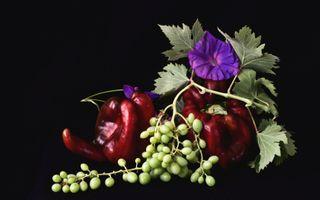 Фото бесплатно вьюнок, виноград, перец