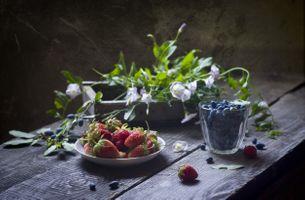 Фото бесплатно wood, коробка, цветы