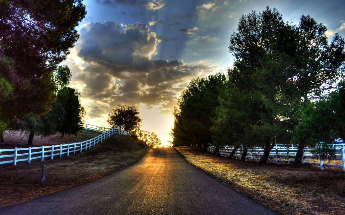 Фото бесплатно облака, забор, ограда - на рабочий стол