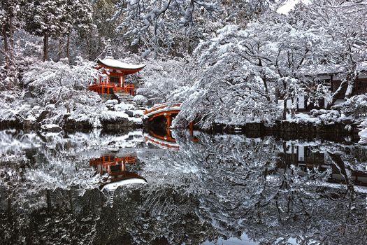 Photo free Japan, winter, pagoda
