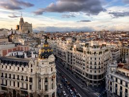 Заставки Madrid, Spain, Calle Gran Via