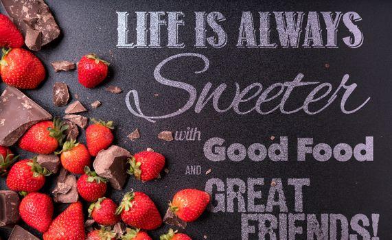 Фото бесплатно надпись, ягоды, клубника