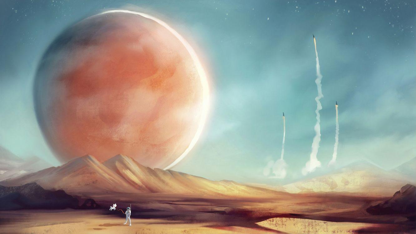 Фото бесплатно Artist, художественное произведение, Mars - на рабочий стол
