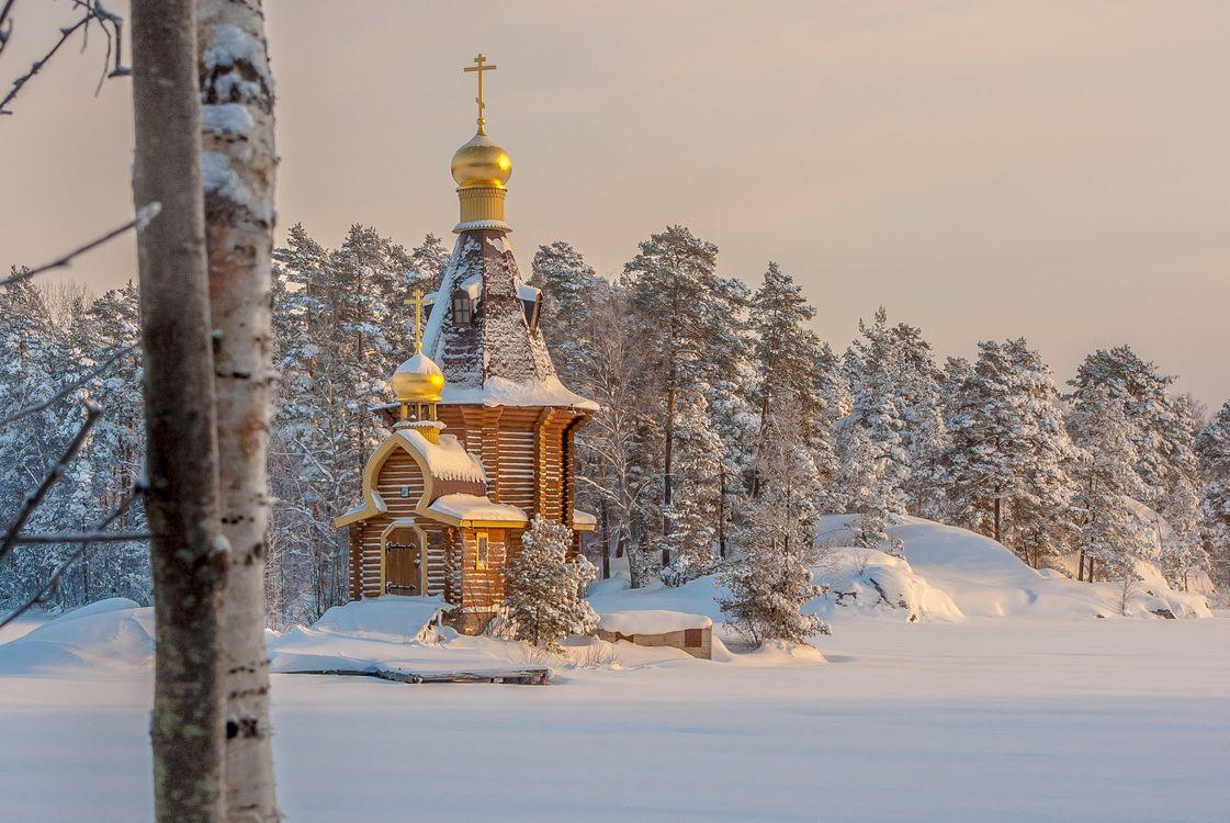 Церковь Андрея Первозванного на реке Вуо · бесплатное фото