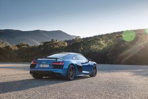 Фото бесплатно Audi R8, синий, спортивные автомобили