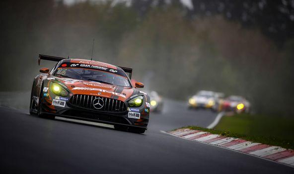 Фото бесплатно Mercedes AMG GT C, 24 часа Ле-Мана, трасса