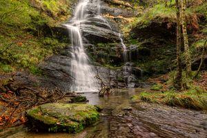 Бесплатные фото осень,водопад,скалы,природа,пейзаж