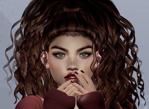 Фото бесплатно виртуальная девушка, графика, портретное фото
