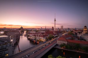 Photo free sunset, Berlin, cityscape