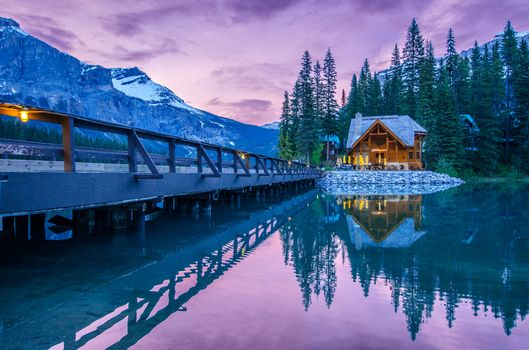 Photo free Emerald lake, landscape, Yoho National Park
