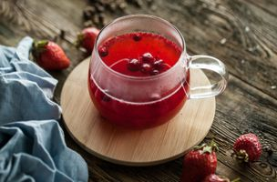 Фото бесплатно напиток, витамины, брусника