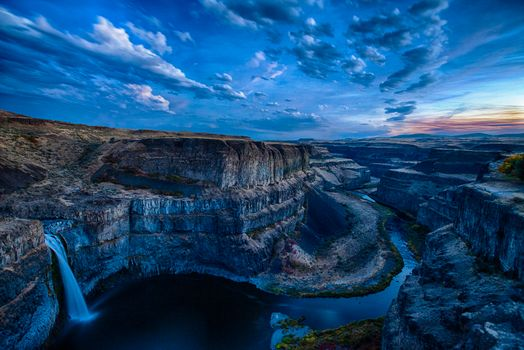 Photo free Palouse Falls State Park, Washington, waterfall