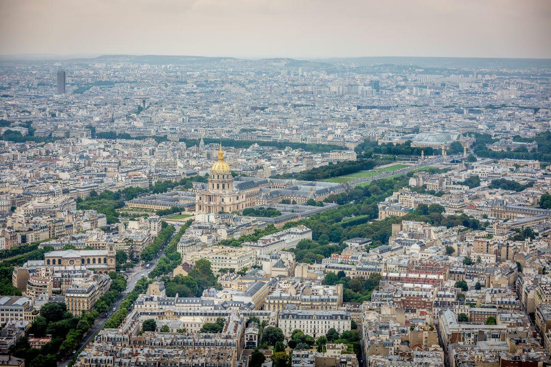 Фото бесплатно Париж, Франция, Paris, город дома, улицы, дороги, панорама - на рабочий стол