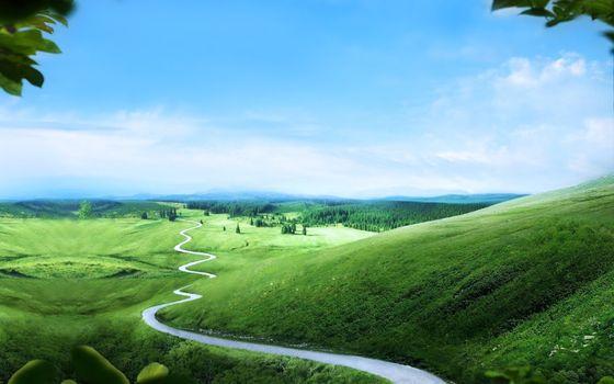 Фото бесплатно облака, земля, зеленый