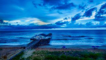 Бесплатные фото китти хок,северная каролина,пирс,море,океан,взморье,туризм
