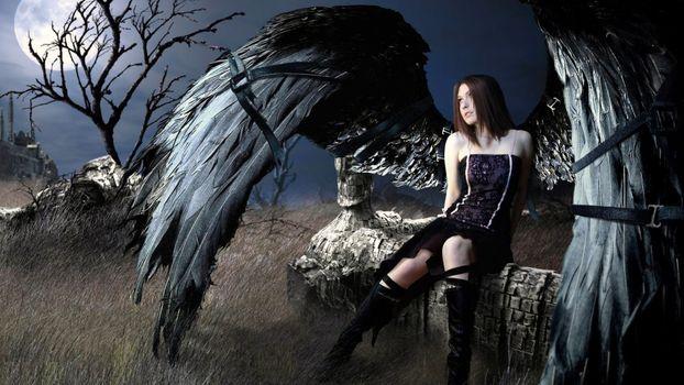 Фото бесплатно Падший, Ангел, дева