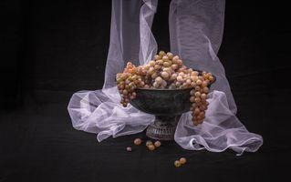 Бесплатные фото занавеска, стол, виноград, натюрморт