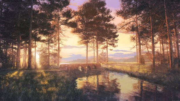 Photo free beautiful, forest, lake