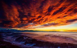 Фото бесплатно Швейцария, закат солнца, Альпы
