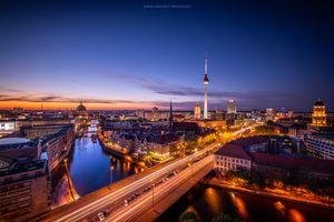 Фото бесплатно капитала, ночной город, освещение