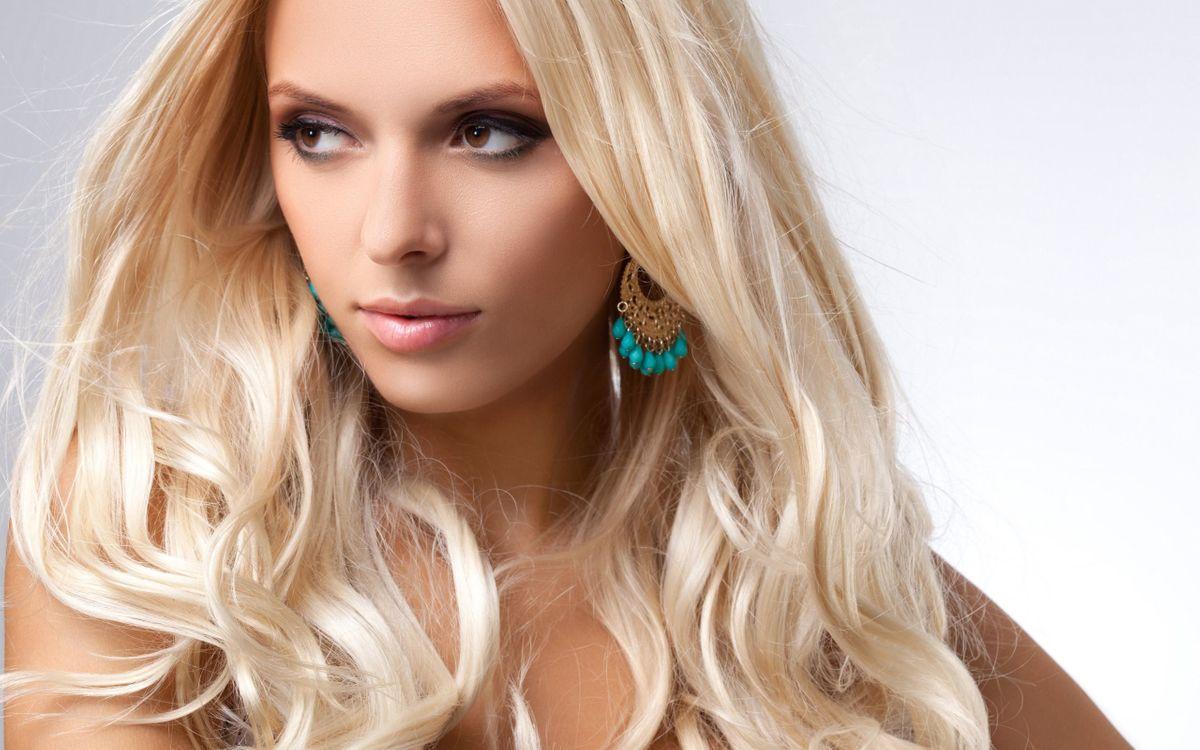 Photos for free blonde, makeup, look - to the desktop