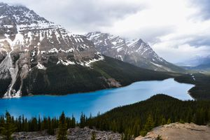 Photo free Banff National Park, Lake Peyto, rocks