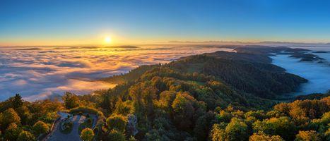Фото бесплатно Цюрих, восход, пейзаж