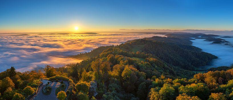 Photo free Zurich, sunrise, landscape