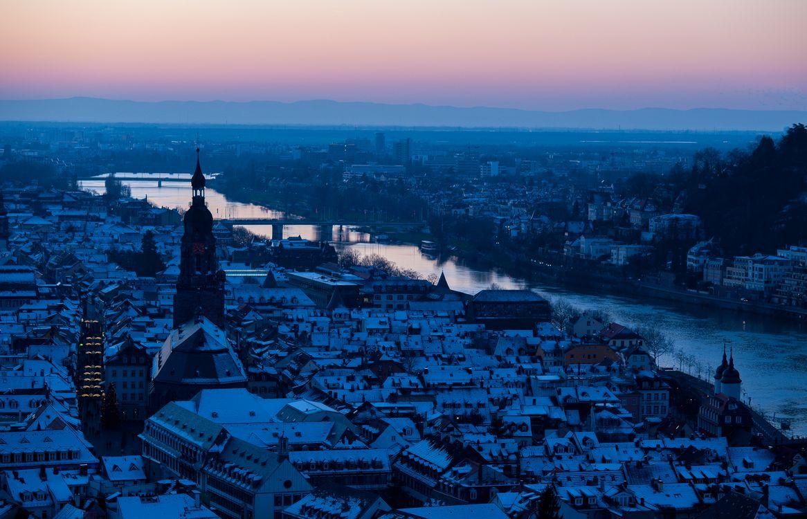 Фото бесплатно Гейдельберг, ночь, город - на рабочий стол