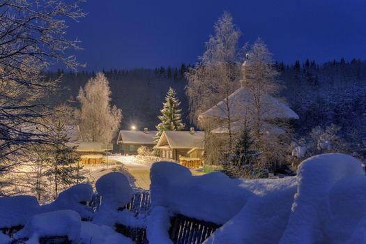 Фото бесплатно Ленинградская область, дер Согиницы, зима